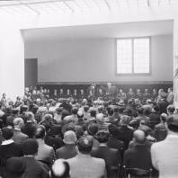 Parlament de J. Puig i Cadafalch en l'acte d'inauguració del Museu d'Arqueologia de Catalunya el dia 3 de novembre de 1935