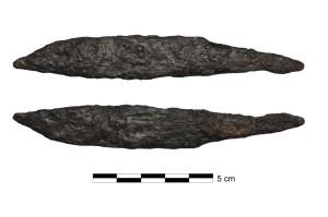 Ganivet de ferro (segles IX-X) procedent del jaciment de l'Aubert