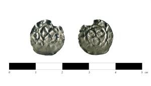 Moneda de plata de segle X apareguda al jaciment de l'Aubert.