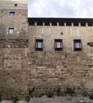 Vista de la muralla de Barcelona
