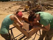 Treballs d'excavació al pou d'Iesso