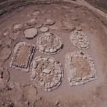 Vista general dels túmuls un cop finalitzada la intervenció de consolidació i restauració