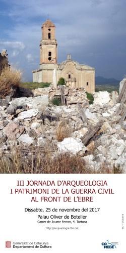 Cartell de la III Jornada d'Arqueologia i Patrimoni de la Guerra Civil al front de l'Ebre