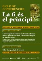 """Cartell d'activitats de l'exposició """"La fi és el principi"""","""