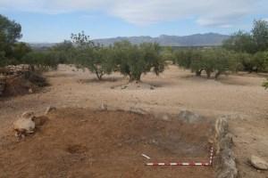 6. Planta de l'estructura d'habitació documentada a la Vall de Mantons (Aldover) durant la intervenció arqueològica del 2017 (Font: SAPPO-UAB)