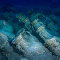 15. Àmfores del derelicte d'Illes Formigues. Fotografia: CASC