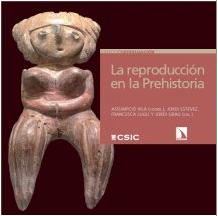 """Portada del llibre: """"la reproducción en la Prehistoria. Imágenes etno y arqueológicas sobre el proceso reproductivo"""""""