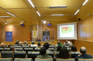 """Sessió de la conferència de la Tribuna d'Arqueologia del 18 d'abril de 2018 """"L'establiment rural de l'ibèric ple de Rabassats (Nulles, Alt Camp)"""". Fotografia: Imma Teixell"""