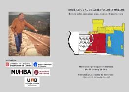 Portada del díptic dels actes d'homenatge a Alberto López Mullor en el primer aniversari de la seva mort