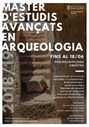 Cartell del Màster d'Estudis Avançats en Arqueologia de la Universitat de Barcelona