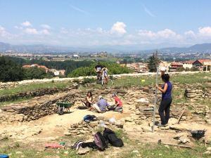 Arqueòlegs de l'Esquerda a l'inici de la campanya del 2018