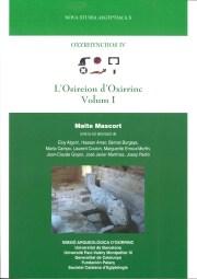 """Portada del primer volum del llibre """"Oxyrhynchos IV. L'Isireion d'Oxirrinc"""""""