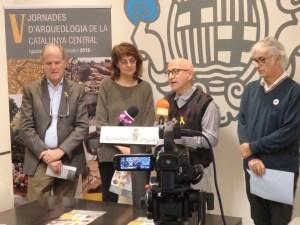 Acte de presentació de les V Jornades d'Arqueologia a la Catalunya Central. Fotografia: Esteve Lladó, ST de Cultura a la Catalunya Central.