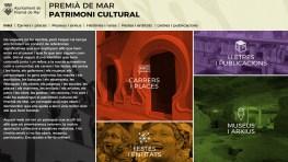 Flyer del nou web del patrimoni cultural de Premià de Mar