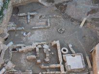 9- Detall de les zones productives amb el dipòsit d'opus signinum de finals del segle VII-inici VIII