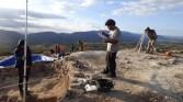 5. Procés de realització de dibuix del jaciment. Fotografia: Equip Coll del Moro de Gandesa