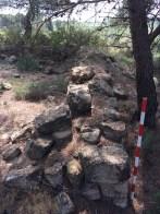 Estructures del poblat de Coll del Moro del Xollat (Gandesa). Fotografia: Servei d'Arqueologia i Paleontologia
