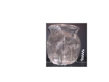6. Ceràmica de cuina medieval on s'hi ha trobat residus de vi