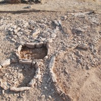 4. Detall de la relació entre túmuls del sector 2. Fotografia: Iltirta Arqueologia