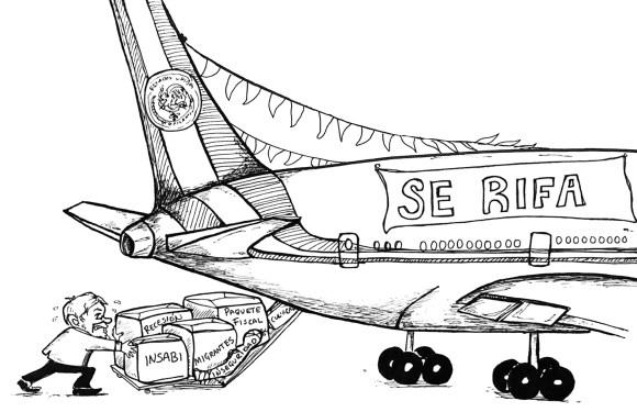 La ocurrencia de rifar el avión presidencial