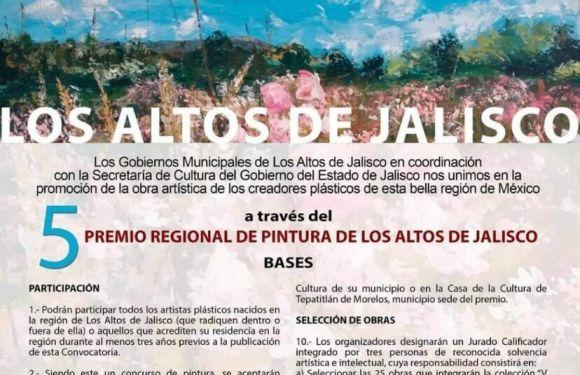 Invitan a participar en el 5to. Premio Regional de Pintura de los Altos de Jalisco 2021