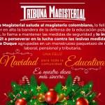 ¡Al Magisterio Nacional, Felices Fiestas!