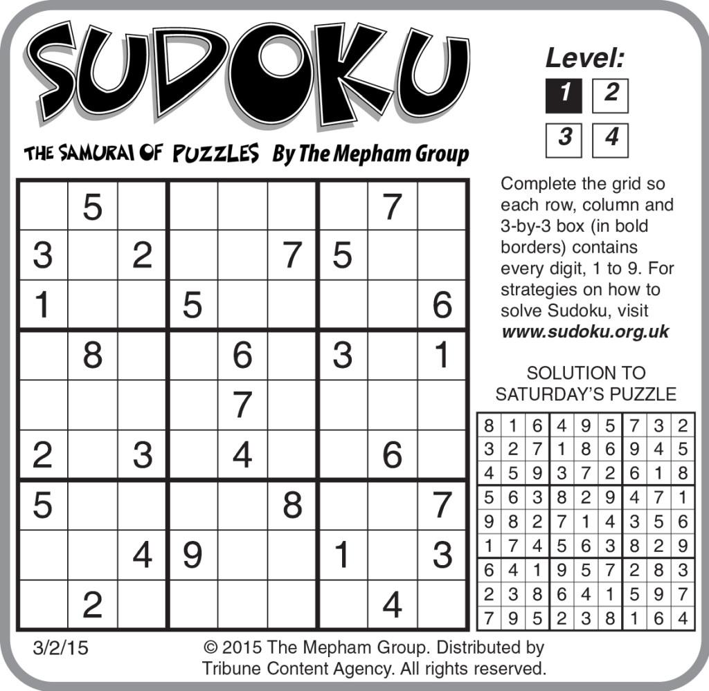 Sample Of Sudoku Daily Horizontal