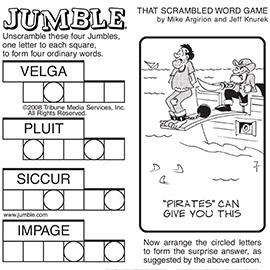 Sunday Jumble available for syndication and licensing