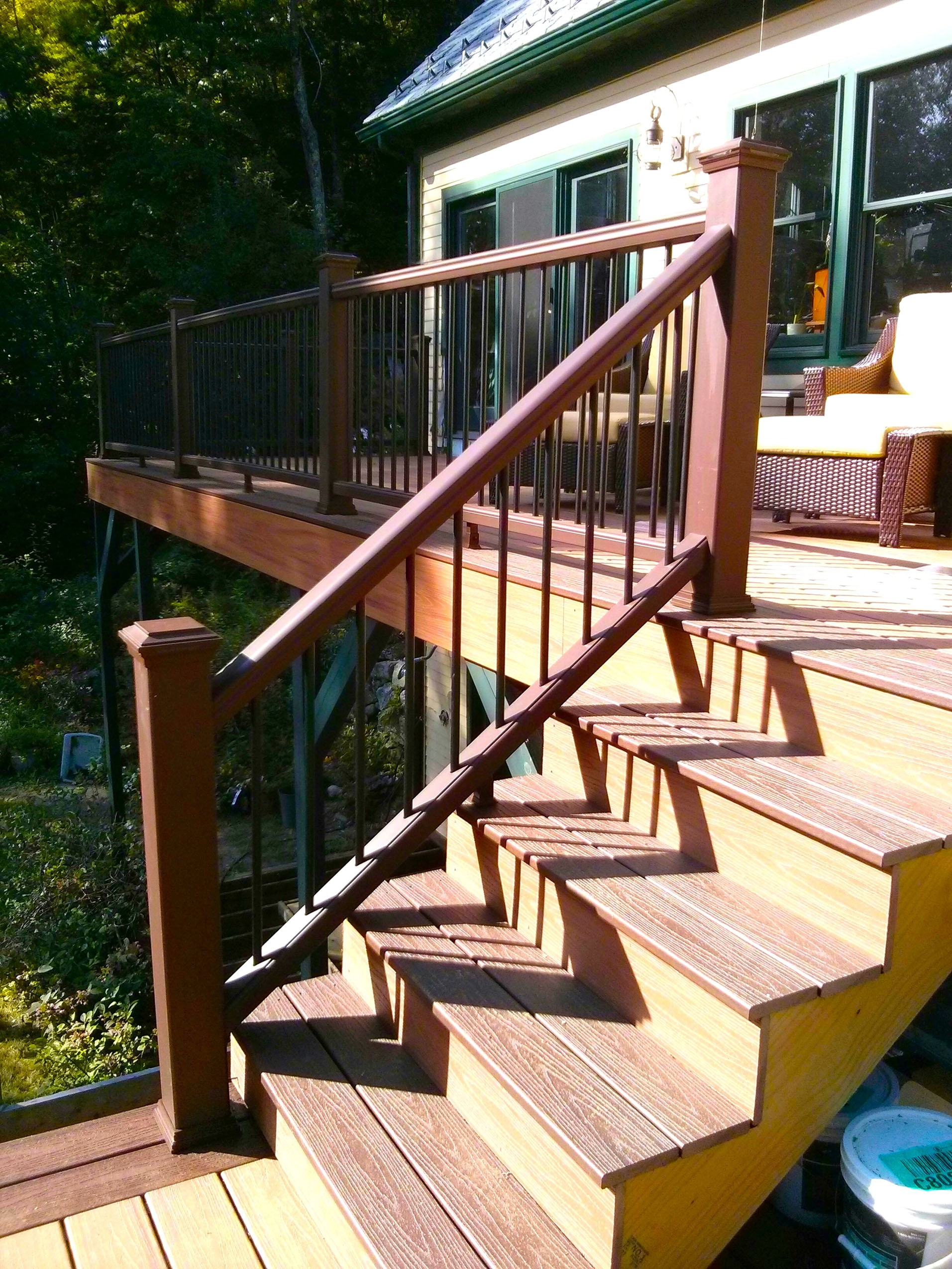 How To Build A Deck Stair Railing Tribune Content Agency   Making Steps For Decking