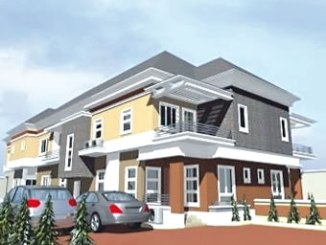 Architectural presentation of a semi-detached home in Excellence Estate, Arepo, Ogun State.