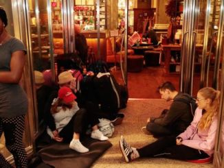 Many people, including tourists, were stranded when the city main railway station was closed. PHOTO: GETTYIMAGES