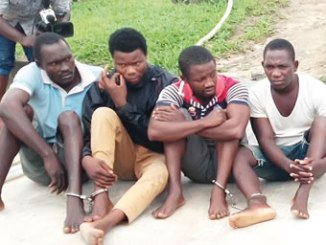 The four suspects arrested by Navy.