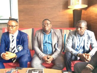 From left, Mr Bank Anthony Okoroafor, Chairman of Petroleum Association of Nigeria (PETAN); Mr Lawal Gbolahan, Secretary of PETAN and Mr Wale Sanyaolu, Energy Expert/Analyst, at the annual conference of Society of Petroleum Engineers (SPE) in Lagos, recently.