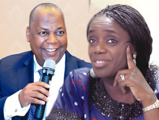 Minister of Finance, Kemi Adeosun, promoting depositors' confidence and NDIC MD/CE, Umaru Ibrahim mni, FCIB.