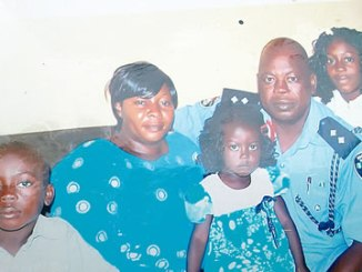 A family portrait of the Kwamni family