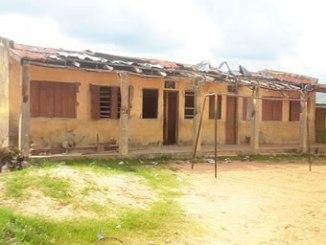 St. James Catholic Primary School, Sabo-Oke, Ilorin, Kwara State in a state of dilapidation. PHOTO: BIOLA AZEEZ