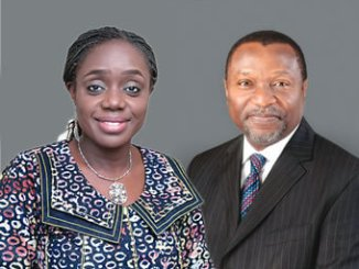 Kemi Adeosun, Minister of Finance and Senator Udoma Udo Udoma, Minister of Budget and Planning.