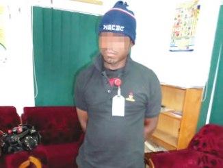 The suspect, Peter Onoja