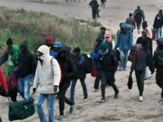 Migrants in France are cleared from camp. PHOTO: AP