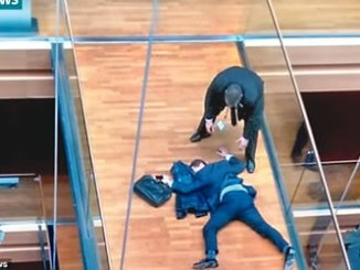 Steven Woolfe, collapsed at the European Parliament building in  Strasbourg after being punched by another MEP at a 'clear the air' meeting. PHOTO: itv NEWS