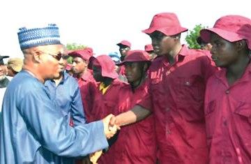 Governor Shettima and civilian JTF
