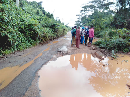 The failed road.