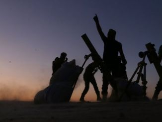 Rebel fighters advanced on Dabiq on Saturday. PHOTO: AFP