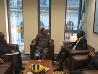 Dr. Ibe Kachikwu in a meeting with the OPEC Secretary General, Mohammad Sanusi Barkindo, in preparation for the 171st OPEC meeting holding, on Wednesday, 30/11/2016, in Vienna.