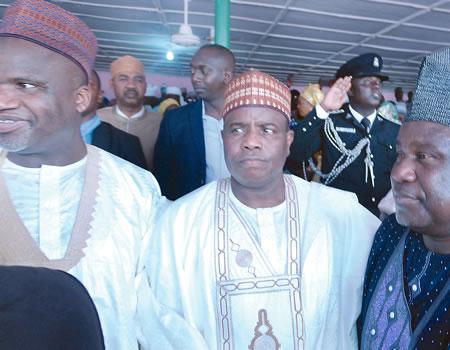 Sokoto State governor, Alhaji Aminu Tambuwal and Senator Abdulfatai Buhari at the event.