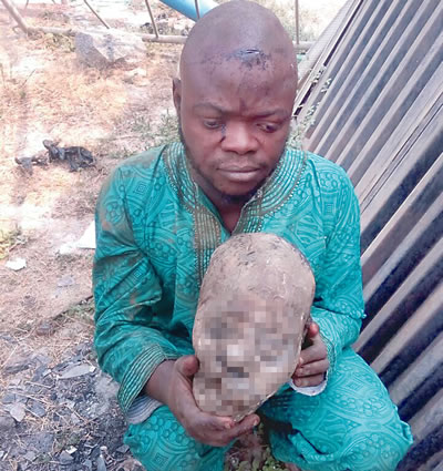Man caught with human head in Oyo
