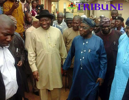FULL DETAILS: Why Jonathan visited Obasanjo in his ancestral village