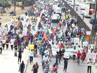 workers protest - nlc tuc