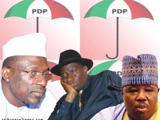 PDP: goodluck jonathan - ali modu sheriff - ahmed makarfi