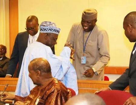 image of Obasanjo's reference to Salamigate confirmed Fayemi became governor by judicial fraud —PDP png jpg jpeg mpeg mp4 mp3